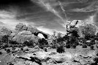 Skyline Arch Arches NP BW