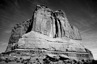 Courthouse Butte Arches NP BW
