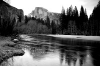 Half Dome Over the Merced River